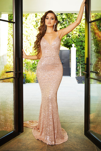 Portia & Scarlett PS21287 Gown - Rose Gold