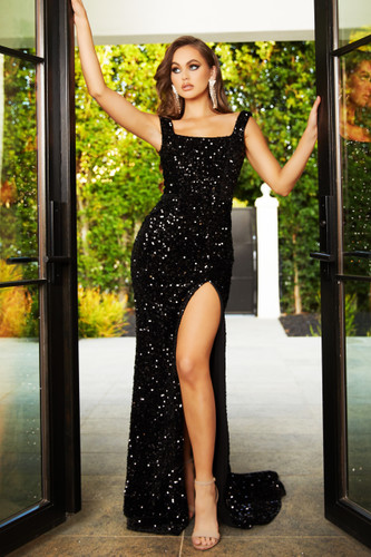 Portia & Scarlett PS21028 Gown - Black