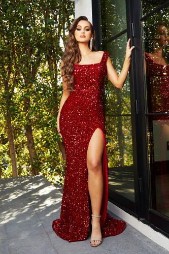 Portia & Scarlett PS21028 Gown - Red