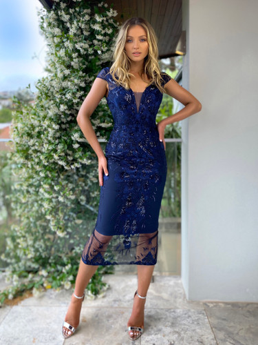 SOLD OUT Jadore JX5003 Dress - Navy