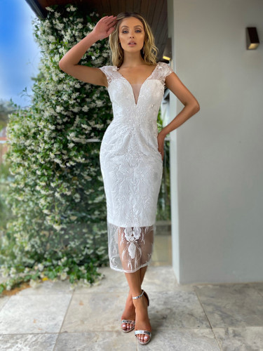 Jadore JX5003 Dress - Ivory
