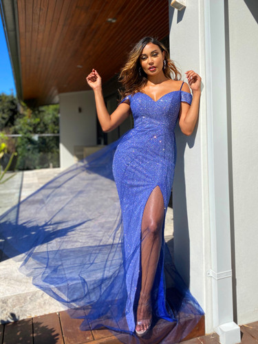 Jadore JX5038 Gown - Navy Blue