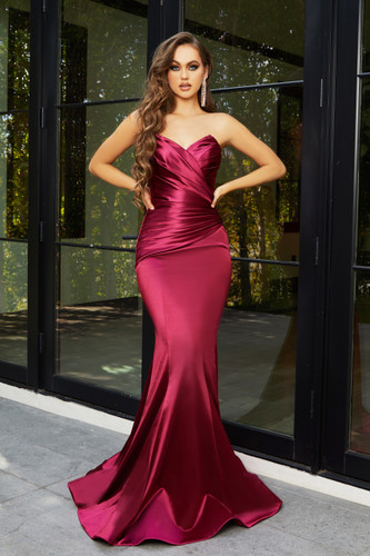 Portia & Scarlett PS21279 Gown - Burgundy