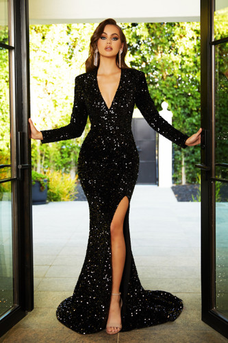 Portia & Scarlett PS21034 Gown - Black