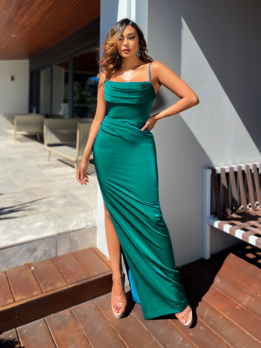 SOLD OUT Jadore JX5017 Gown - Dark Green