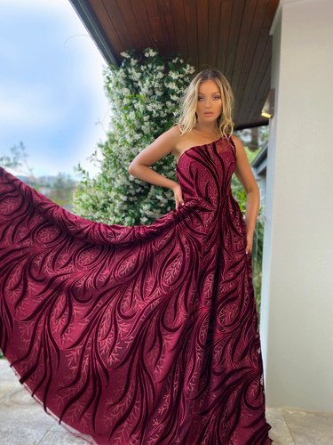 Jadore JX5028 Gown - Wine