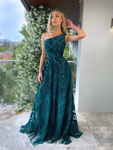 SOLD OUT Jadore JX5028 Gown - Emerald