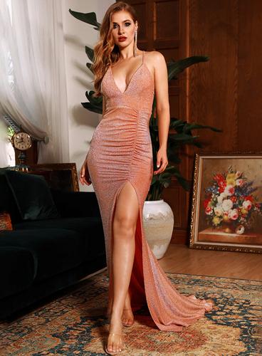 Mila Label Karina Gown - Peach
