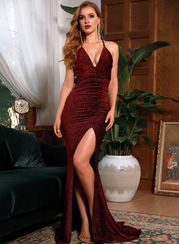 Mila Label Karina Gown - Maroon