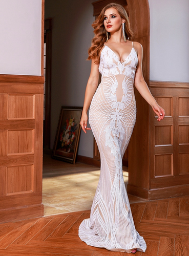 Mila Label Viola Gown - White/Nude