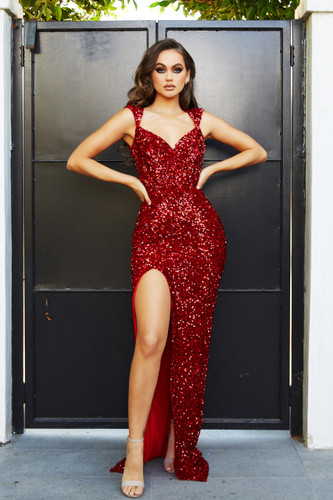 Portia & Scarlett PS21280 Gown - Red