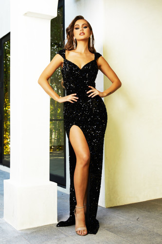 Portia & Scarlett PS21280 Gown - Black