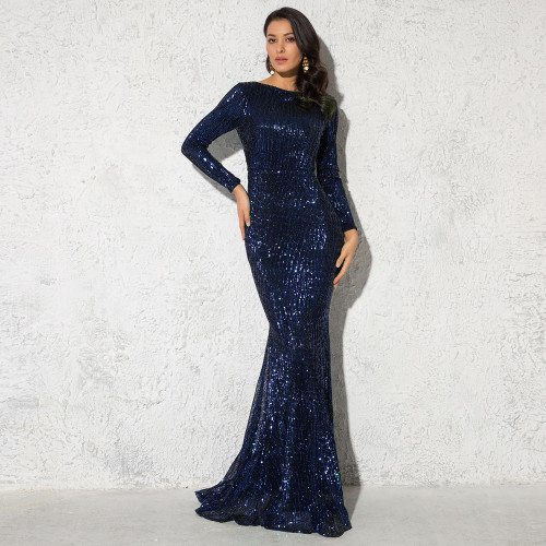 Mila Label Amirah Gown - Navy