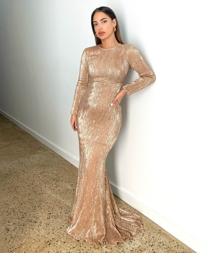 Mila Label Amirah Gown - Champagne