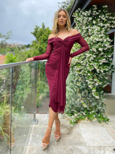 Jadore JX5046 Dress - Wine