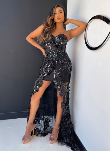 Jadore JX5018 Gown - Black