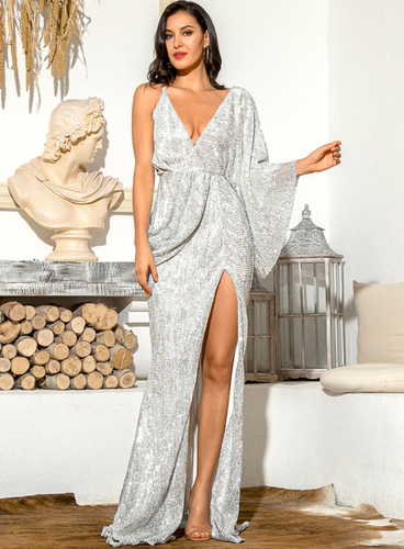 Mila Label Megan Gown - Silver