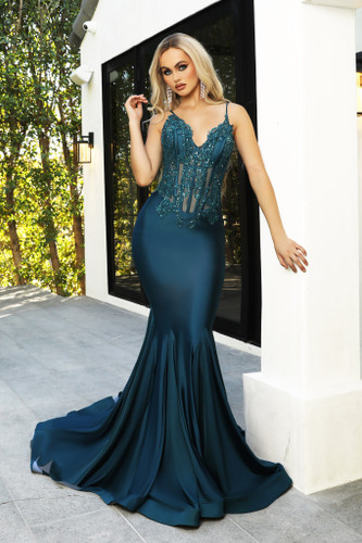 Portia & Scarlett PS21175 Gown - Teal