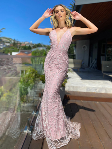 Jadore JX5002 Gown - Dusty Pink