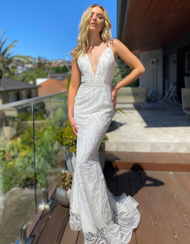 Jadore JX5002 Gown - Ivory