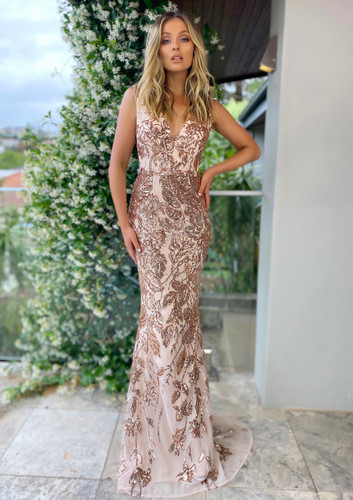 Jadore JX5024 Gown - Rose Gold
