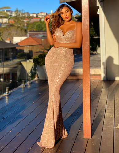 Jadore JX5068 Gown - Rose Gold