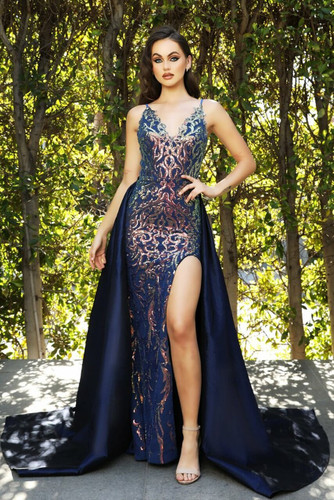 Portia & Scarlett PS21043 Gown - Navy Multi