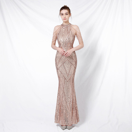 Mila Label Pia Gown - Gold