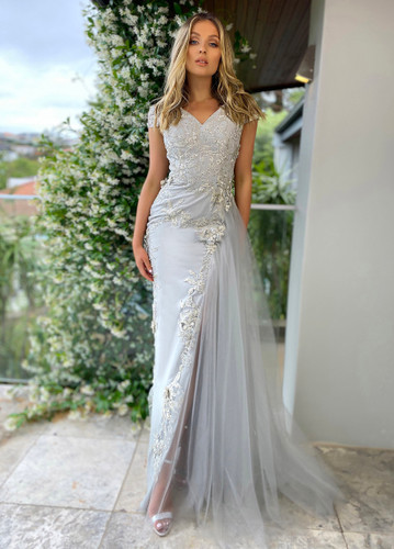 Jadore JX5004 Gown - Silver