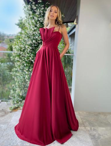 Jadore JX5010 Gown - Maroon