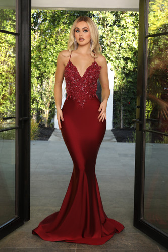 Portia & Scarlett PS21116 Gown - Red