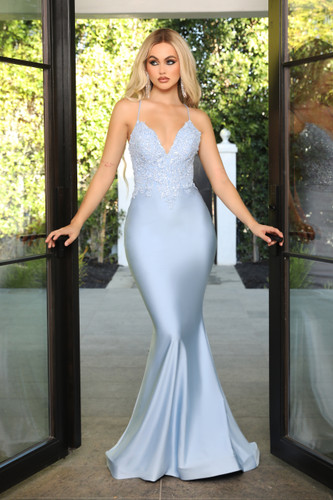 Portia & Scarlett PS21116 Gown - Powder Blue