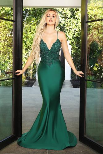 Portia & Scarlett PS21116 Gown - Emerald