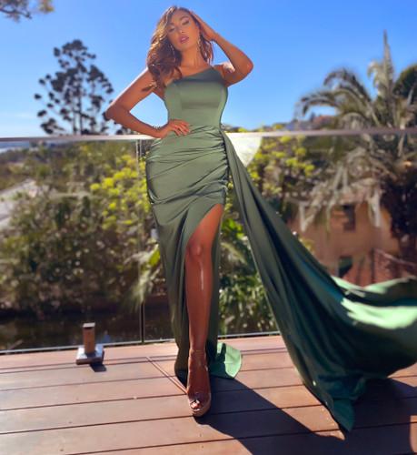 Jadore JX5065 Gown - Olive