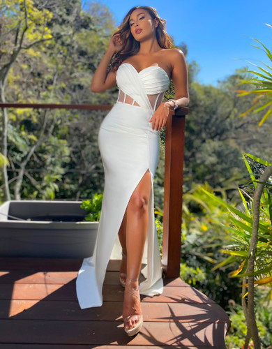Jadore JX5062 Gown - Ivory