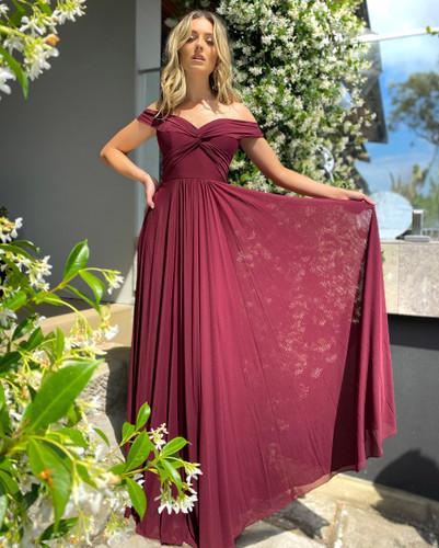 Jadore JX5045 Gown - Wine