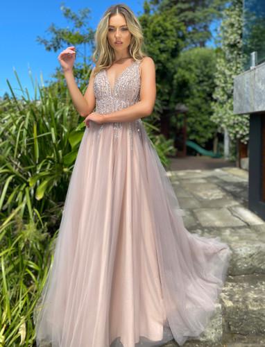 Jadore JX5005 Gown - Dusty Pink