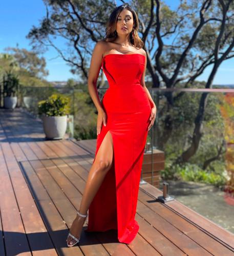 Jadore JX5055 Gown - Red