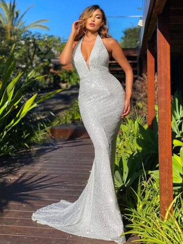 Jadore JX5067 Gown - Silver