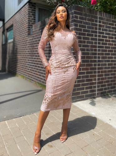 Jadore JX5047 Dress - Blush