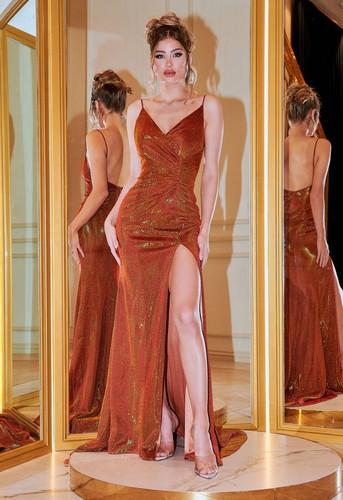 Portia & Scarlett PS22801 Gown - Burnt Orange