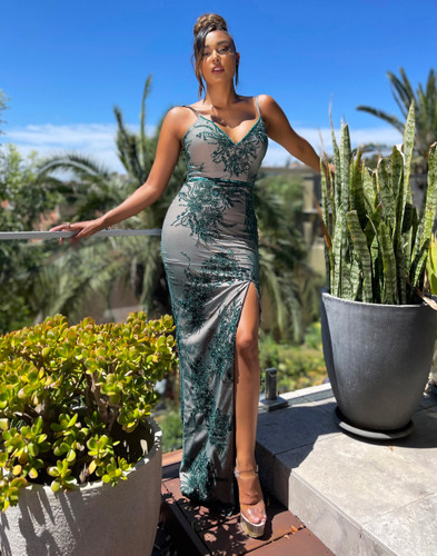 Jadore JX5034 Gown - Emerald