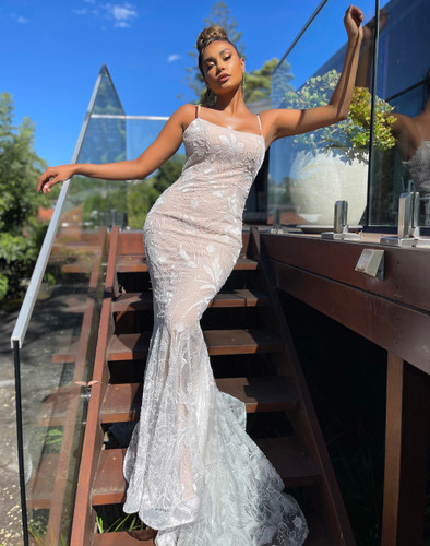 Jadore JX5073 Gown - Ivory/Nude