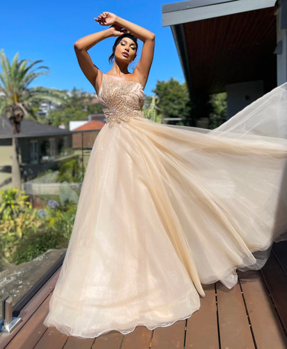Jadore JX5029 Gown - Champagne