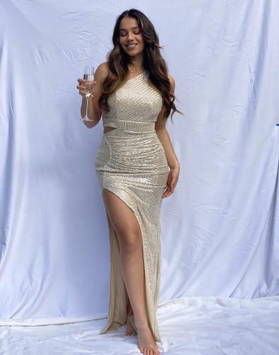 Mila Label Perdis Gown - Gold