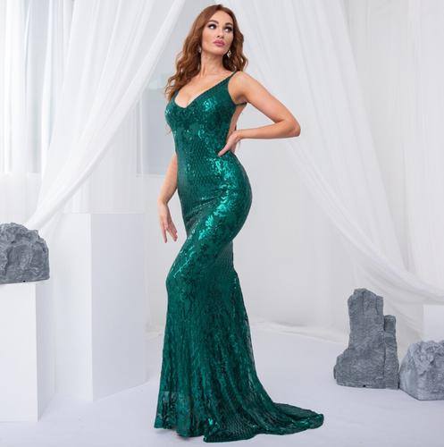 Mila Label Katja Gown - Emerald