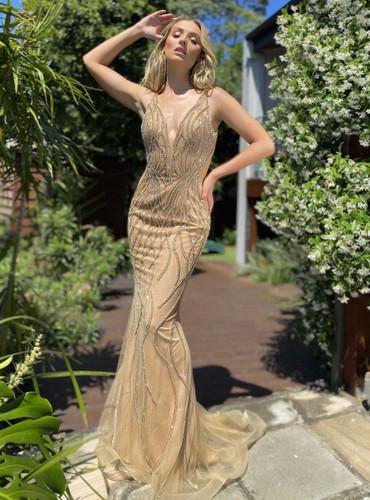 Jadore JX5001 Gown - Caramel