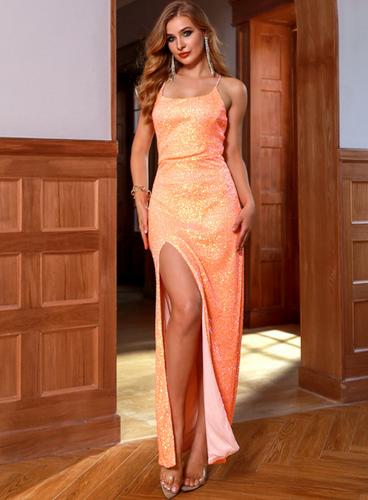 Mila Label Melani Gown - Orange
