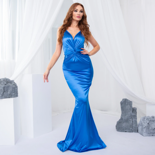 Mila Label Marney Gown - Blue