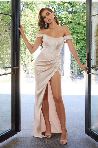 Portia & Scarlett PS21188 Gown - Champagne